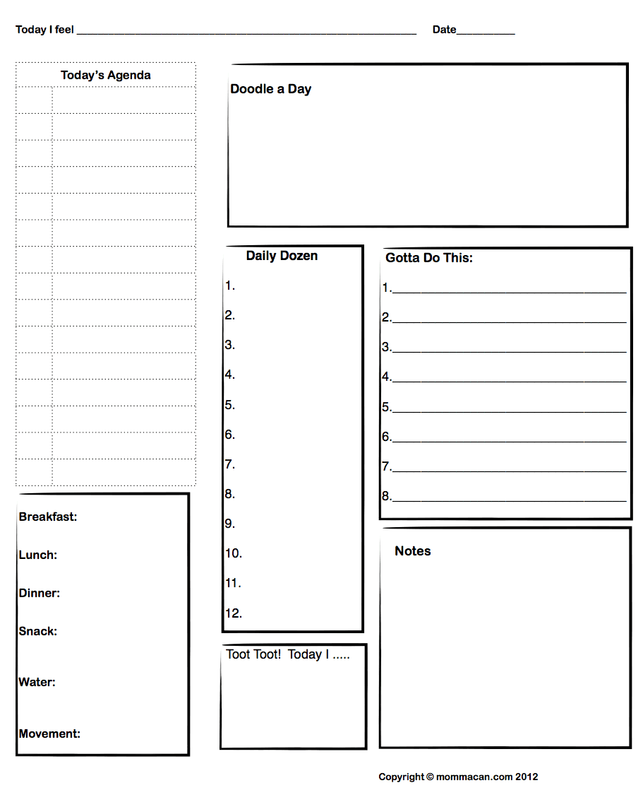 Templates  DIY Planner  Be Creative    Planners And